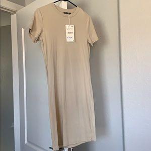 NWT neutral Zara dress